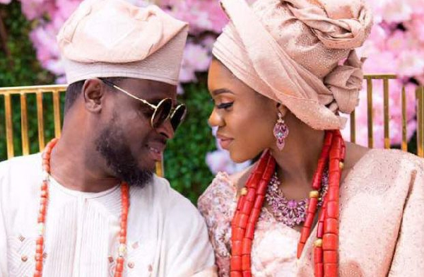 Becca with her husband Daniel Oluwatobi Sanni