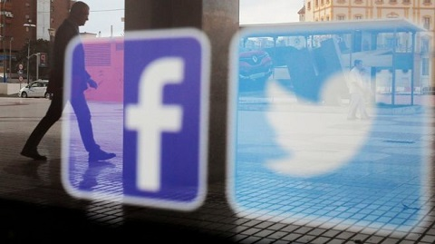 Facebook and Twitter say they have removed or suspended hundreds of accounts