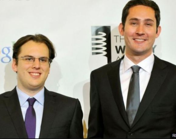 Kevin Systrom (R) and Mike Krieger continued to run Instagram after it was acquired by Facebook in 2012