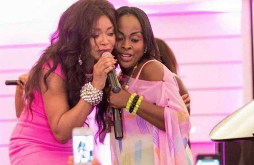 Akosua-Adjepong-and-Stephanie-Benson-performing-together, Ghana Music News Articles