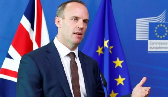 Brexit Secretary Dominic Raab met with the EU's Michel Barnier on Sunday