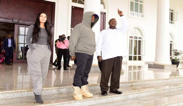 Kanye West and Kim Kardashian met President Museveni at his residence, Ghana Music News Articles