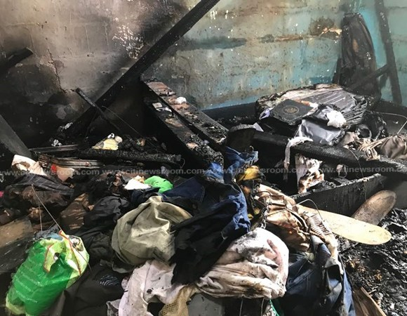 Property worth thousands of cedis have been totally burnt to ashes as a result of a fire outbreak
