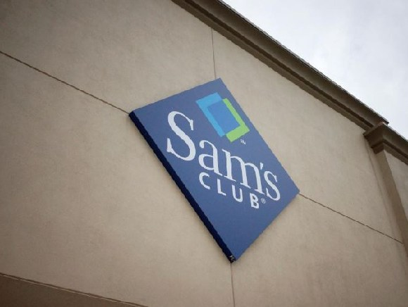 The Sam's Club sign seen outside in Bentonville, Arkansas
