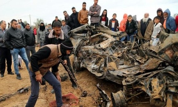 Israel carried out air strikes when the firefight erupted