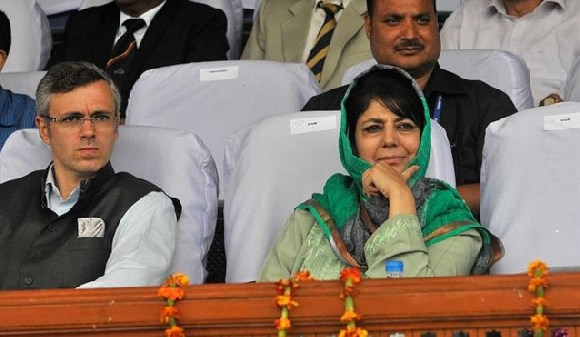 Omar Abdullah (left) and Mehbooba Mufti (right) have staked a claim to form the government together