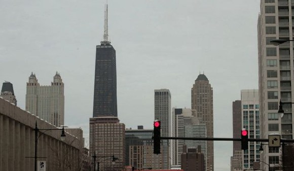 The Hancock building is the city's fourth tallest