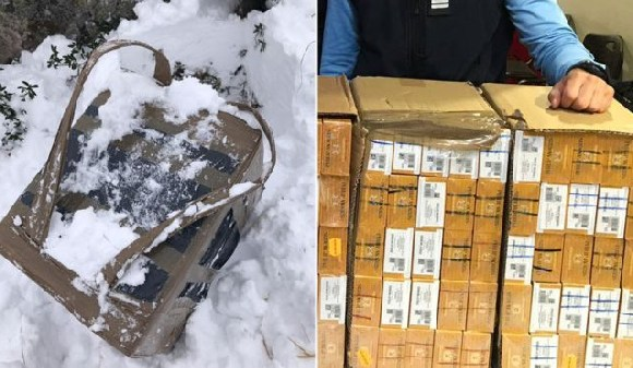 This consignment of cigarettes was picked up by French border police
