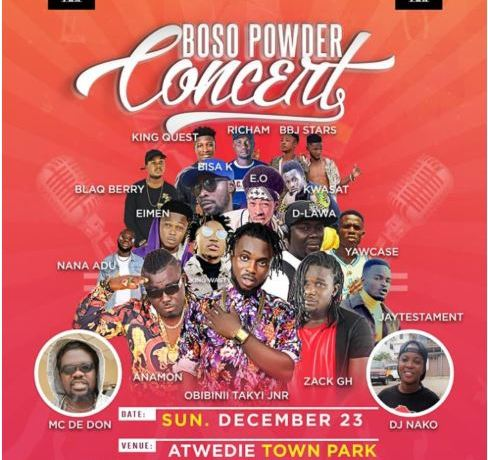 Boso Powder Concert takes place on December 23