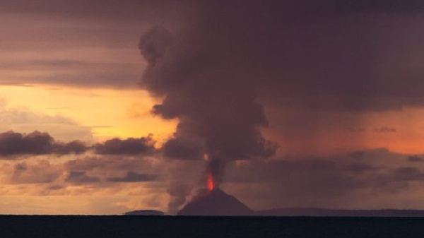 This image of Anak Krakatoa was taken by Oystein Lund Andersen on Saturday