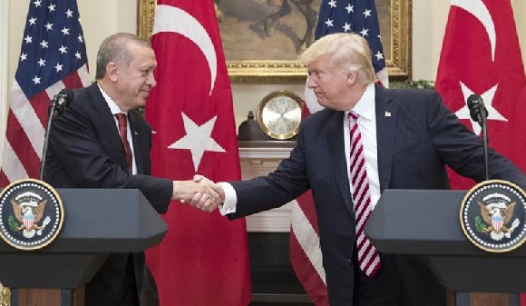 Trump hosted Erdogan at the White House in May last year