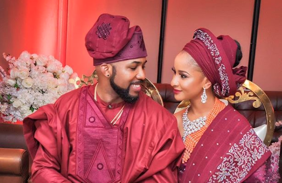 Banky W with his wife, Adesua