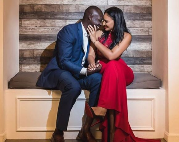 Chris Attoh and wife