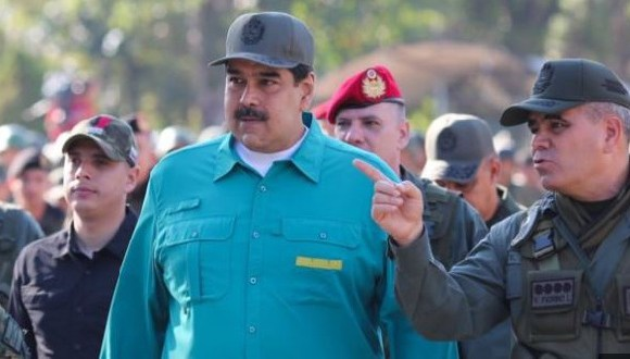 Mr Maduro attended military exercises in Carabobo on Sunday