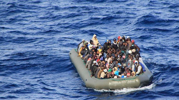 Some migrants on sea