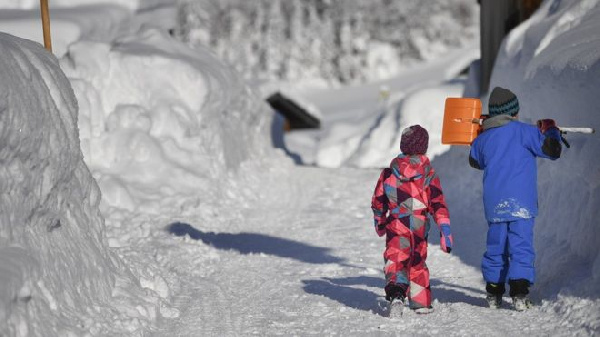 Some of the heaviest snow was in Bavaria where some villages were cut off