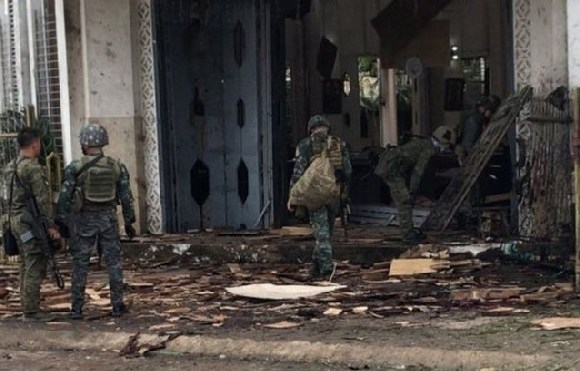 The army has been deployed to the area after the bomb blasts