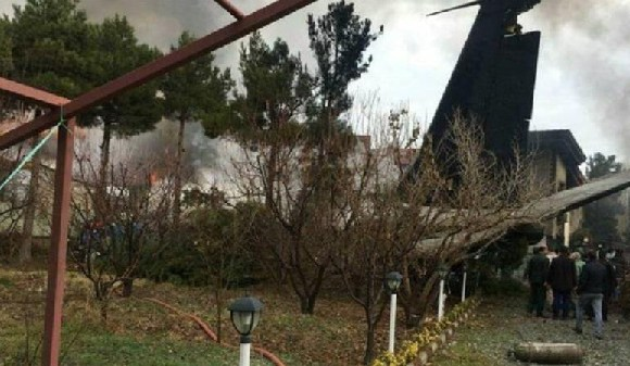 The cargo plane that crashed in Iran reportedly departed from Kyrgyzstan's Manas airport