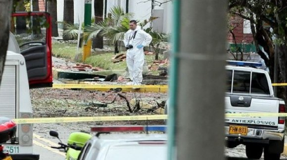 The explosion happened outside a school for police cadets