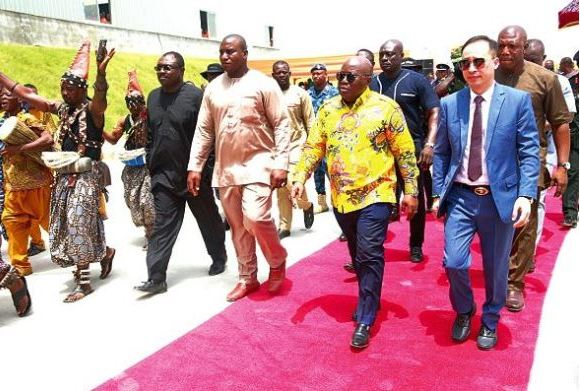 Akufo-Addo opens factory