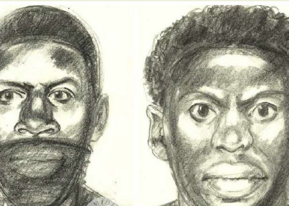 An artist's impression of the suspects