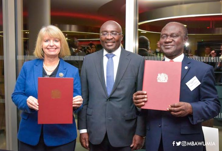 Bawumia signs MoU with UK