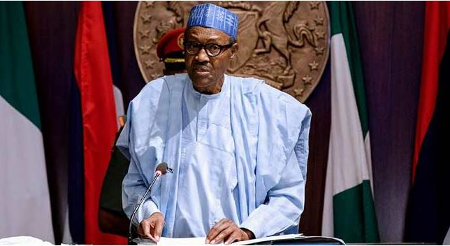 Buhari reads speech