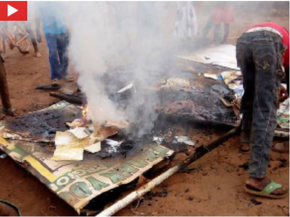 NPP Salaga office burnt