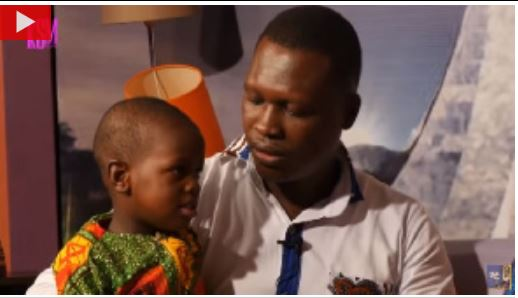 Nii Omanya with his father on the 'KSM Show'