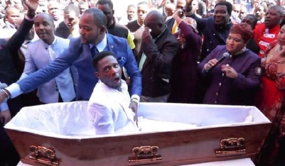 Pastor Alph Lukau claims he brought this man back to life