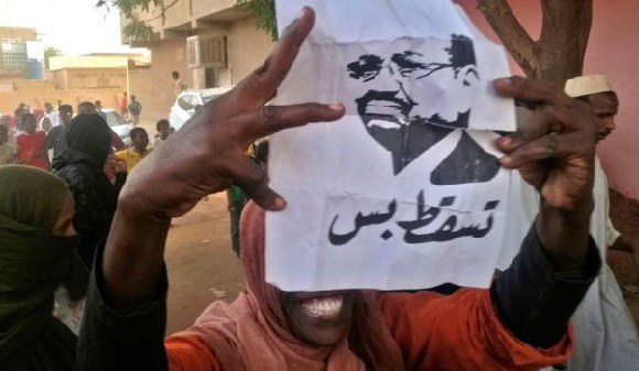 Protesters angered with rising prices want President Bashir to step down