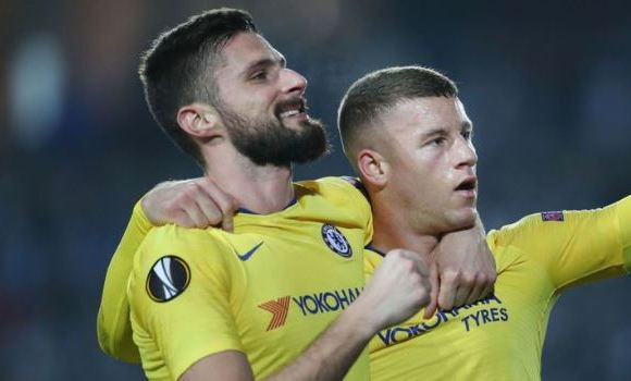 Ross Barkley and Olivier Giroud