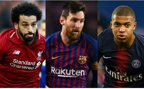 Sala, Messi and Mbappe