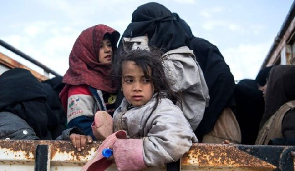 Some 20,000 people who have fled Baghuz in recent weeks have been taken to a camp