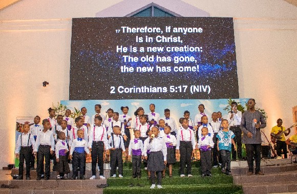 Some kids at the 'Kids In Worship Concert'