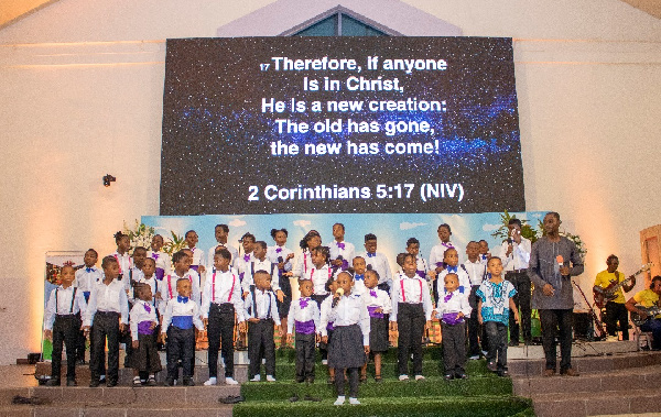 Some kids at the 'Kids In Worship Concert', Ghana Music News Articles