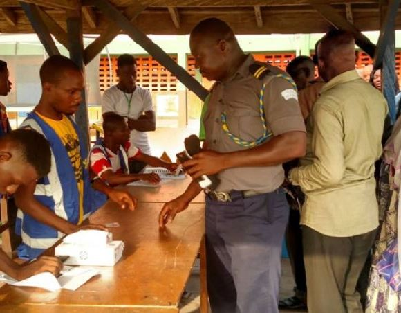 Voters in queue at Ningo-Prampram Constituency