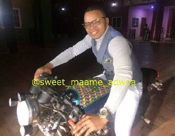 Bishop Daniel Obinim on a motorbike
