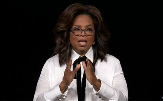 Oprah Winfrey spoke of the potential of a book club on Apple TV+.