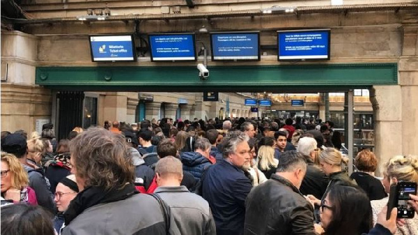 Passengers have complained of long queues