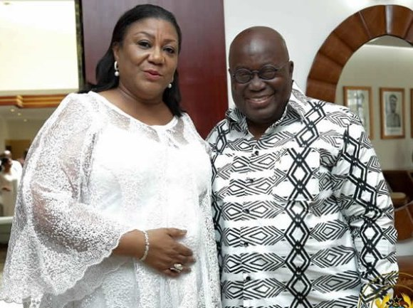 President Nana Addo Dankwa Akufo-Addo and wife Rebecca