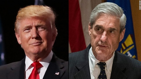 US President Donald Trump and Robert Mueller