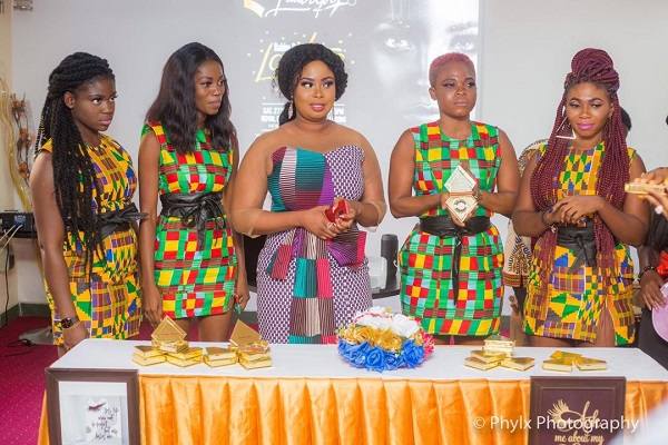 Actress Rabby Bray with others at the launch
