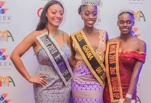 Miss Ghana UK with the runners up