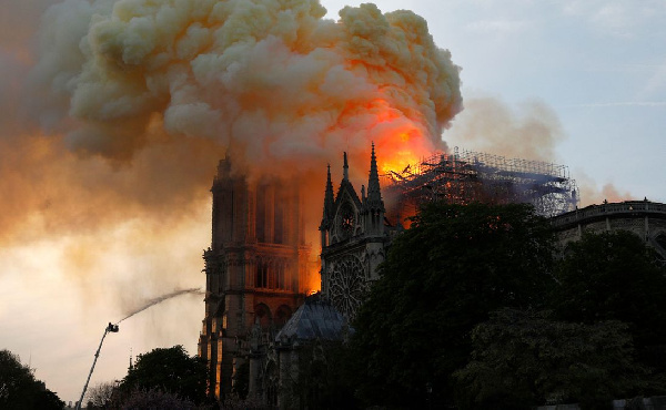 Notre Dame Cathedral was raised down by fire