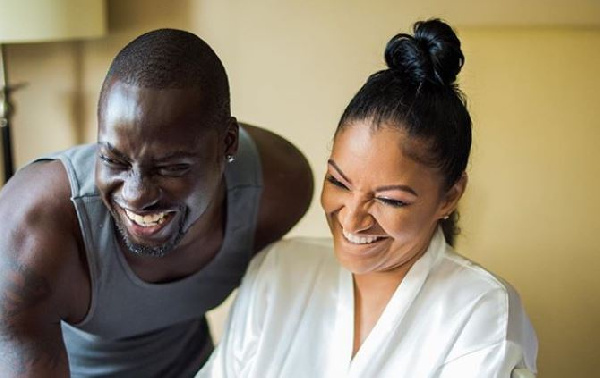Chris Attoh and his second wife Bettie Jennifer