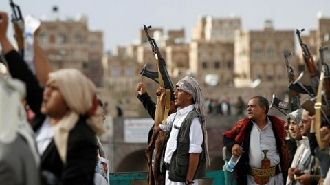 Houthi supporters at a rally in the capital Sanaa, last month