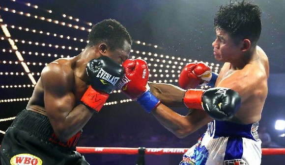 Isaac's dad Paul Dogboe threw in the towel
