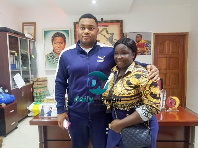 Maame Serwaa with CEO of Kantanka Automobile