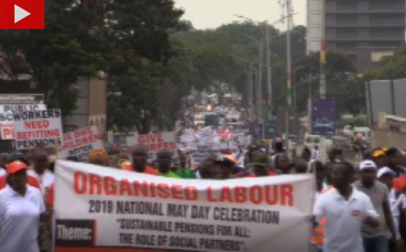 May Day Labour protest